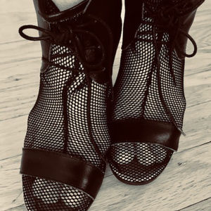 Italian Lace and Leatherr Ankle Boots